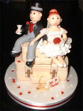 Backpacker Couple Cake Topper